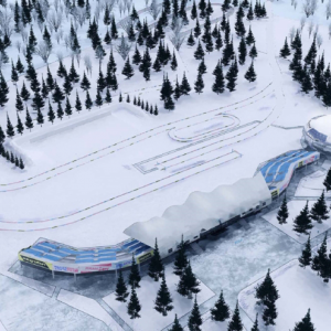 Combined complex for competition cross-country ski & biathlon. The sixth stage of construction. The access roads.